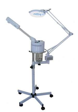 M5 Kombigerät: Bedampfer, Lupenlampe und Stativ